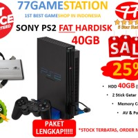 (PS2) Sony Playstation 2 FAT HARDISK 40GB FULL GAMES + PAKET LENGKAP