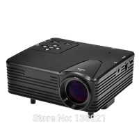 Proyektor Led home theater Projektor portable LCD Projector mini With TV Tuner AV USB VGA SD HDMI Generasi terbaru 201