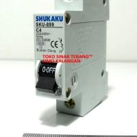 MCB / Stut SHUKAKU HITAM 1A / 1 A / C1 Satu Ampere 220 W SNI Murah