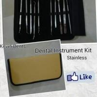 Dental Instrumen Kit Stainless - alat dasar kedokteran gigi