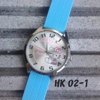 Jam Tangan Hello Kitty Biru Muda
