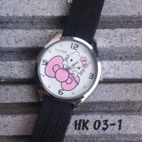Jam Tangan Hello Kitty Hitam