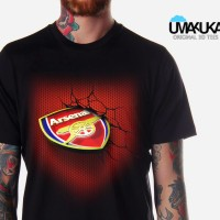 Kaos 3D Logo Club ARSENAL is The GUNNERS