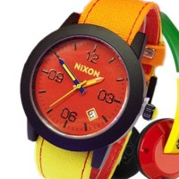 jam Tangan Nixon Rasta Jamaica Merah