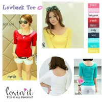 Kaos low back basic top