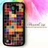 13 MOSAIC Samsung Galaxy S4 MINI HARD case,casing,unik,warna warni