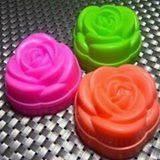 Cetakan Plastik Mawar ( Kukus & Puding ) Harga/ lusin