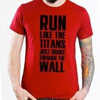 Jual KAOS ATTACK ON TITAN LIKE THE TITANS Murah