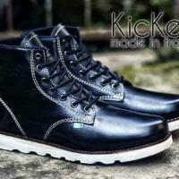 Sepatu Kickers boot kulit