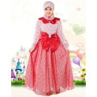 Set Gamis Baju Muslim Anak Aini 140905