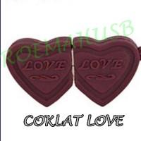 USB FLASHDISK FANCY UNIK DAN LUCU COKLAT / CHOCOLATE / COKELAT LOVE