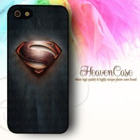 004 SUPERMAN Iphone 5/5s RUBBER case,soft,bumper,casing,logo,lambang