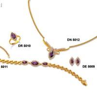 "Perhiasan Lapis Emas ZHULIAN - Koleksi Set ""SEROJA"" (hrg 1 set)"