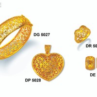 "Perhiasan Lapis Emas ZHULIAN - Koleksi Set ""BIDADARI"" (hrg 1 set)"