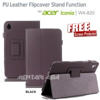 Flipcover ACER Iconia W4-820 : PU Leather Stand Function ( + FREE SP)