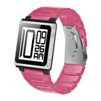 iWatchz Kube Clear - Tali Jam Untuk iPod Nano 6th - Pink transparan