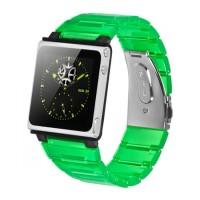 iWatchz Kube Clear - Tali Jam Untuk iPod Nano 6th - Hijau transparan