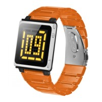 iWatchz Kube Clear - Tali Jam Untuk iPod Nano 6th - Orange transparan
