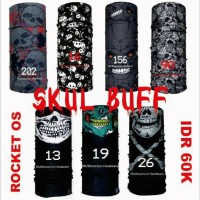 Buff masker bandana multifungsi motif skul
