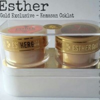 Esther Gold Exclusive Bleaching ORIGINAL CreamA-B (kemasn kaca coklat)