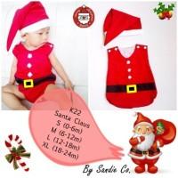 Baju Jumper Bayi Lucu Kostum Sinterklas (santa claus)
