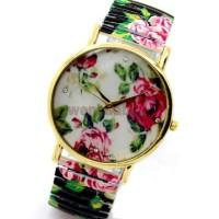 Jam Tangan Flower Stripe