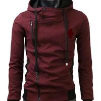 Jaket Korea harakiri merah maroon
