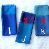 Hijab Square/Kerudung segi empat two tones/Hijab dua warns/Kerudung dua warna bolak balik varian Biru