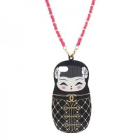 Fasion Chanel Matryoskha Doll TPU Case w/ Chain for iPhone 5/5S
