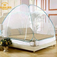 Golden bed canopy size 180 x200
