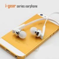 Harga earphone with mic and remote sport earphone headphone i gear hitam putih   antitipu.com