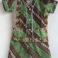 Baju Tidur / Piyama Anak Batik Pendek Size S