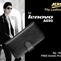Lenovo A690 : ACROlrs Flip Cover FREE SP