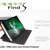 Oppo Find 5 X909 : Original Smart Easy Cover With Sleep Function