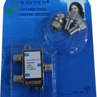 Splitter TV Merk Rayden 2 cabang ( CATV Directional Coupler )