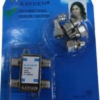 Splitter TV Merk Rayden 3 cabang ( CATV Directional Coupler )