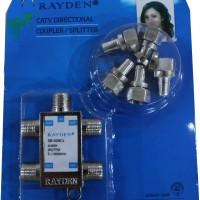 Splitter TV Merk Rayden 4 cabang ( CATV Directional Coupler )
