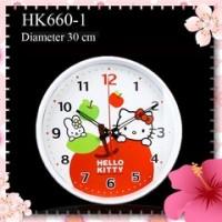 harga Jam Dinding Bundar L Apel Hello Kitty Hk660 Tokopedia.com