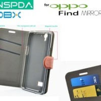 Oppo Find Mirror R819 : Mobx Flip Cover Case Free Sp