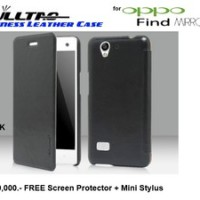 Oppo Find Mirror R819 : Fulltao Business Leather Case Free Sp