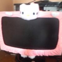 Bando LCD / Kipas Angin Hello Kitty Pink Muda