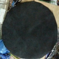 kulit ketipung lembaran d 40 cm warna hitam