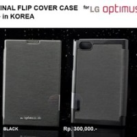 LG Optimus Vu P895 : Original Korea Flip Cover Case (BLACK)