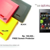 LG Optimus Vu P895 : MINSTAR Korea TPU Softcase FREE SP (RED)
