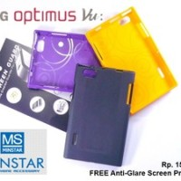 LG Optimus Vu P895 : MINSTAR Korea TPU Softcase FREE SP (YELLOW)