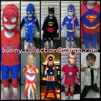 KOSTUM SUPERHERO ANAK ( BATMAN, SUPERMAN, SPIDERMAN, CAPTAIN AMERICA, IRON MAN, HULK, WOLVERINE, BEN 10, DLL)