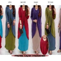 Maxidress Marisa Layer MDL04 - sisa warna abu ^^