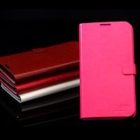 Samsung S4 I9500 leather case [LISHEN] ENLAND series Dompet Notebook Lipetan Kulit Pink