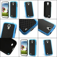 harga Cool 3d Cube Texture Tpu Case For Samsung Galaxy S 4 Iv I9500 I9505 - Black / Blue Tokopedia.com