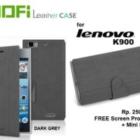 Case Lenovo K900 : Flipcover MOFI ( + FREE SP + Mini Stylus)
